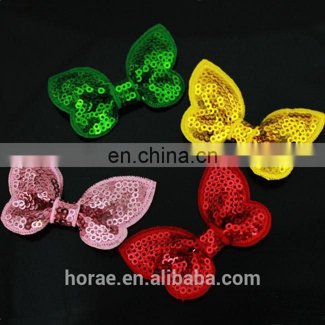 Handmade baby hair sequin fabric hair bow, bow hair accessories