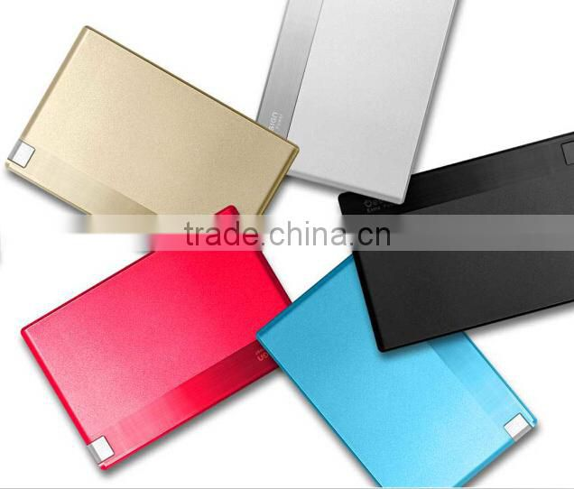 2015 Super Slim Credit Card Size Power Bank Batter Banks 1500mah
