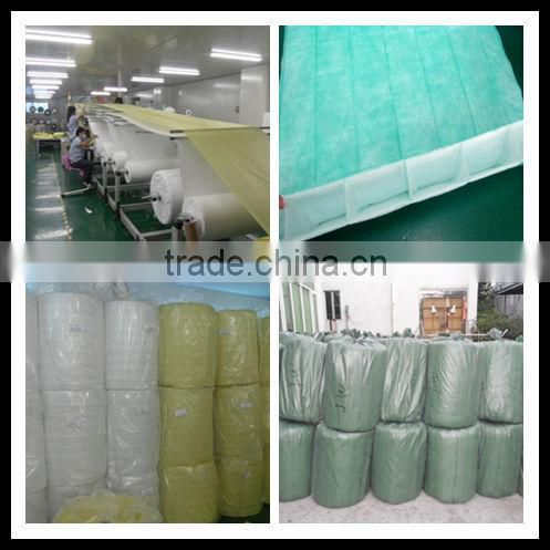 F5,F6,F7,F8,F9 nonwoven fabric HVAC pocket filter media/ bag filter media roll