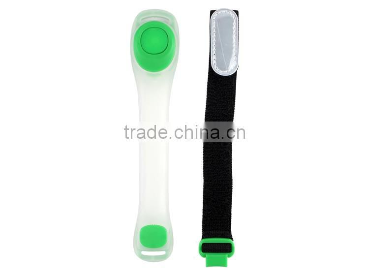 Custom color wholesale personalized TPU flashing reflective led armband