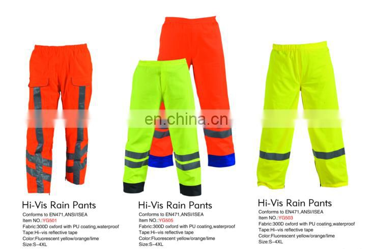 Hot sale latest disign Reflective Rain Pant for man