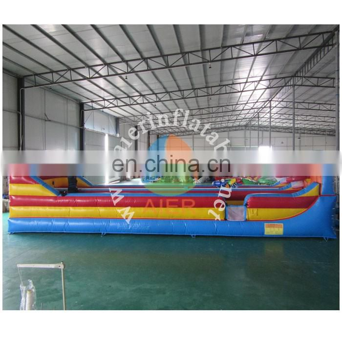 2017 Aier good price beautiful design infatable bungee run competition games/outdoor game inflatable bungee run
