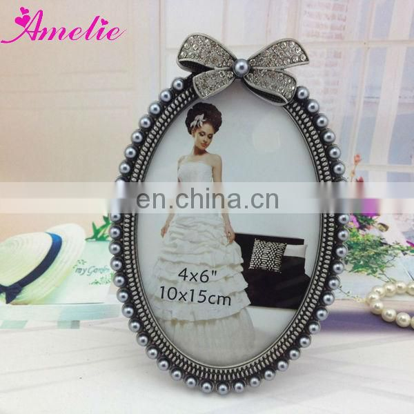 A7088 4*6 inch Metal Pearl New Design Glass Photo Frames