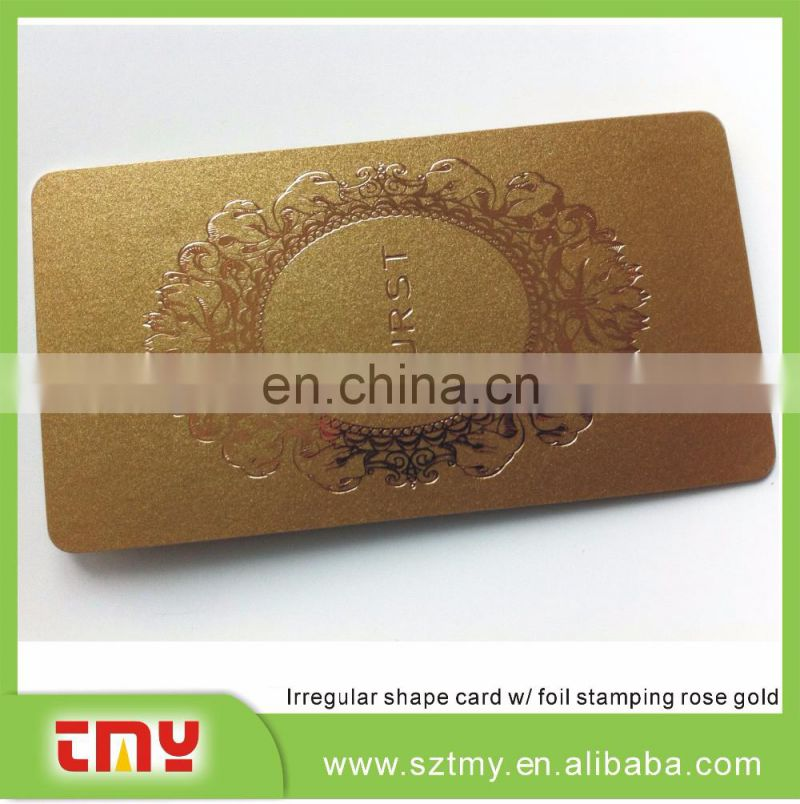Fashion foil stamping RFID card grossy finishing RFID card irregular shape RFID card