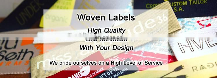 New Designer Woven Label Of Graded Goods Clothing