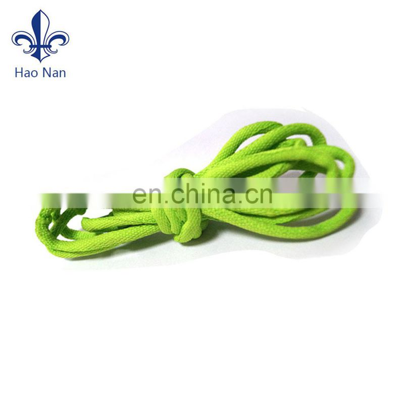 Fancy custom braid elastic shoe lace with varous color for sport shoe