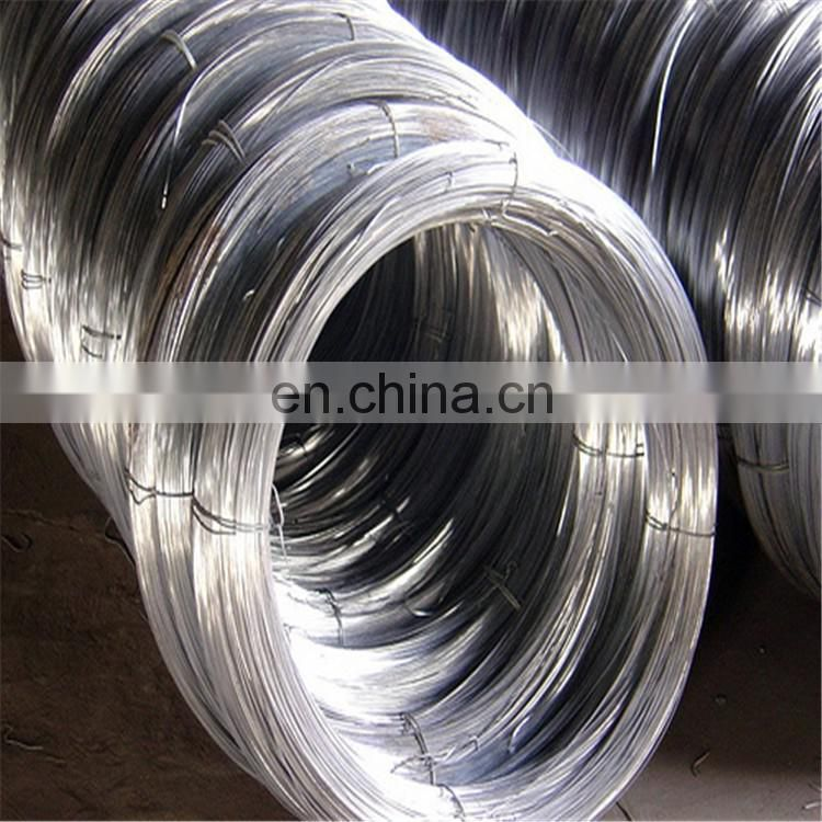 Galvanized wire hot dipped flat wire 6mm steel wire price