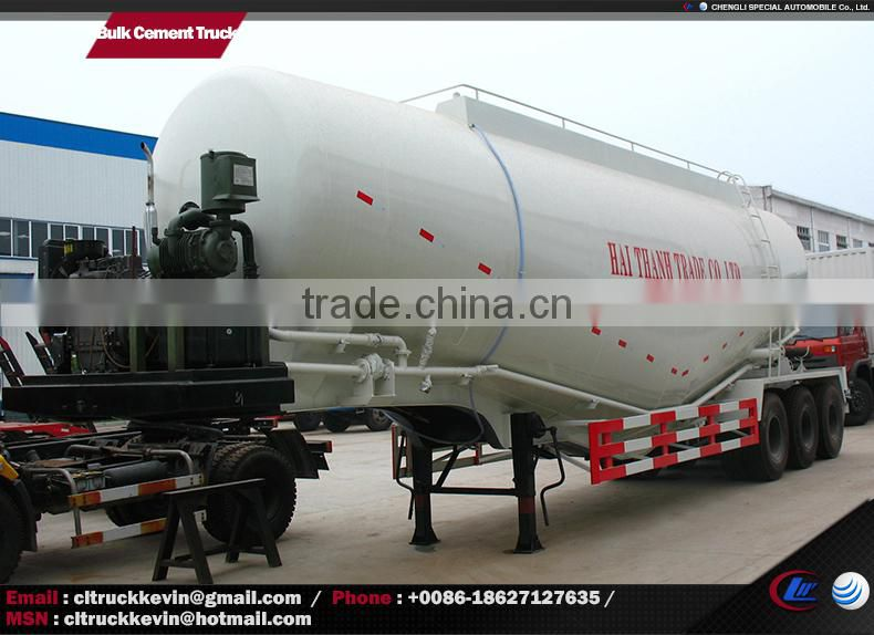 60 tons dry powder bulk concrete carrier trailer