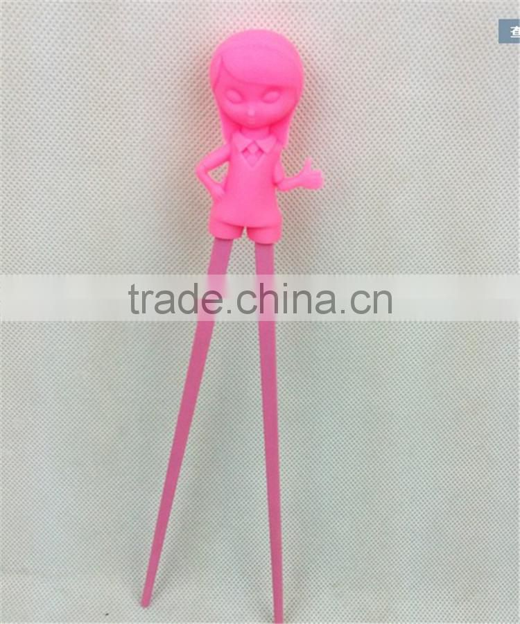 cute design Chinese style silicone chopstic holders for children cartoon girl chopstic wrapper for kid