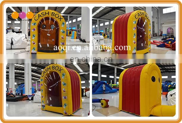 Commercial use indoor inflatable cash catching cube games for sale