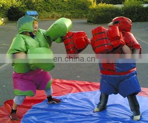 Mocha Inflatable wrestling suits for man