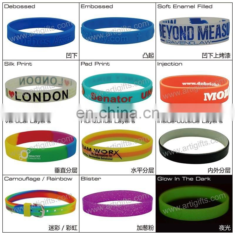 Silicone Wristband China Factory Free Sample Wholesale Fashion Cheap Custom Silicon Wristband