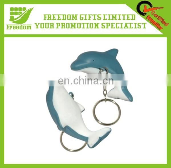 Customized Logo Printed PU Leather Keychain