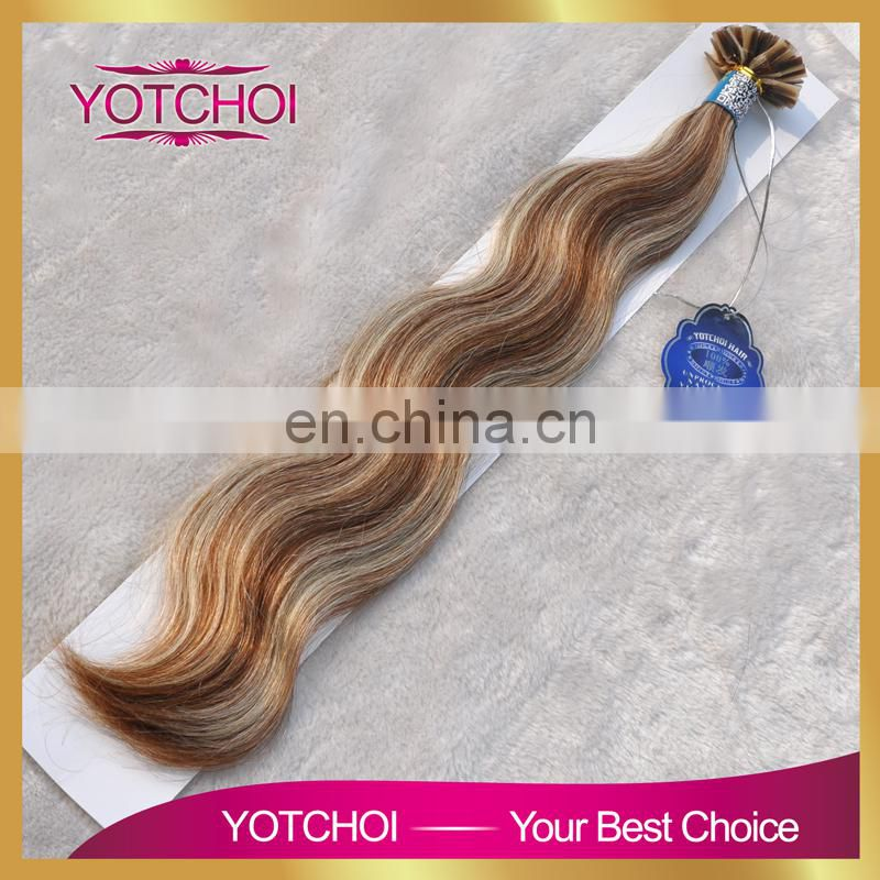 Aliexpress hair products New arrival pre tip 7a brazilian virgin hair loose wave hair extension