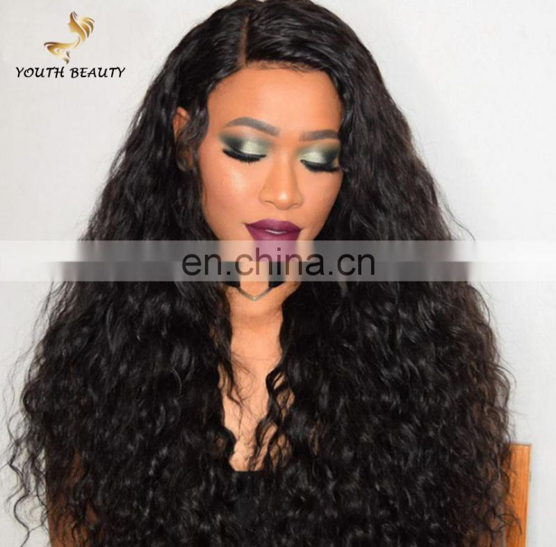 WHOLESALE price 100% BRAZILIAN human virgin 9A GRADE hair lace front wig in water wave style cuticle aligned hair