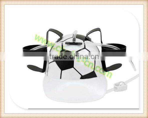 promotion gift party purpose pp football beer drink hat plastic beer drink hat games of desire