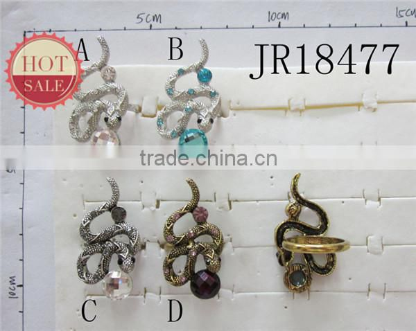7 Color For U Choose Punk Design Woman Alloy Snake Ring