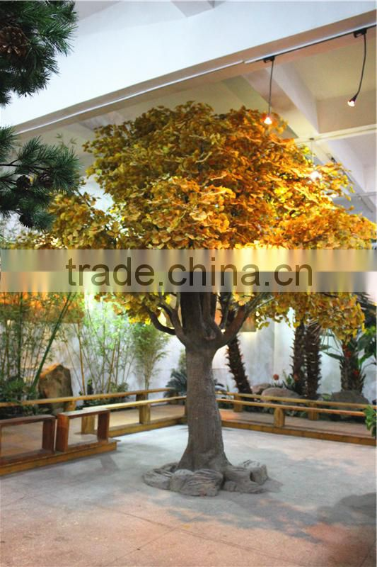 Home garden decoration 100cm to 1000cm Height artificial indoor live plastic ficus red with green big pine tree EZLS05 1012