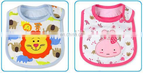 100% cotton baby bibs with embroidery waterproof
