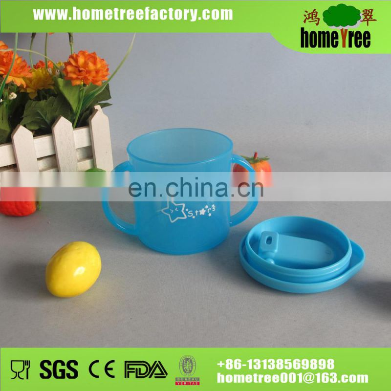 2015 new BPA free colorful children disposable cups with handle 200ml