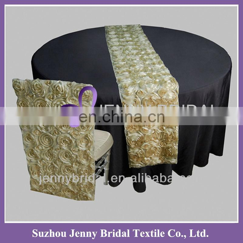 TR015A Hot sale light gold sequin table runner