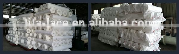 Raw white 30GSM pva water soluble non-woven paper with width of 1.0-3.2m for embroidered lace from China manufacture