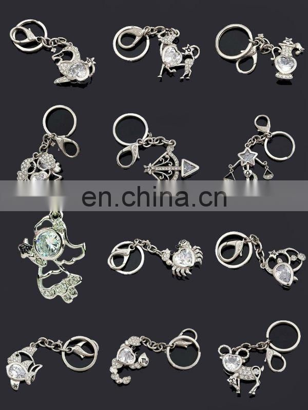 Scorpio keychain promotion crystal constellation keychain