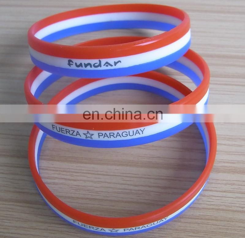customized rubber wristband with printed logo