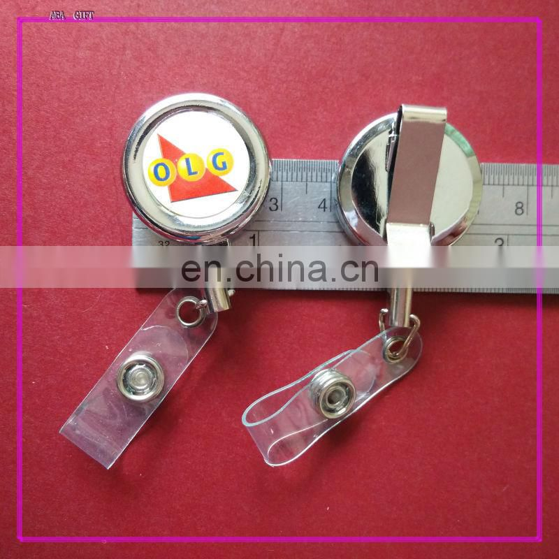 Top Quality Metal yoyo id badge reel with pvc strap