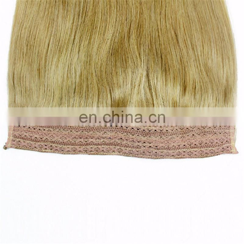 Top selling raw unprocessed halo hair natural 613 blonde russian hair extension virgin straight hair
