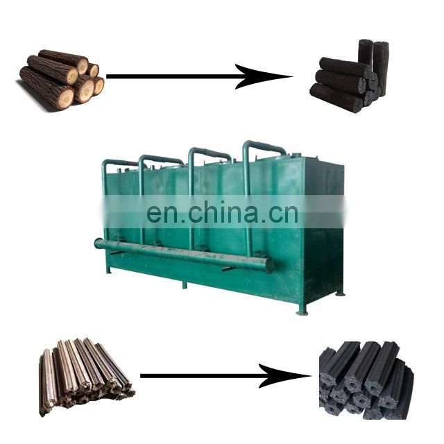 continuously smokeless wood charcoal carbonization furnace for hot selling