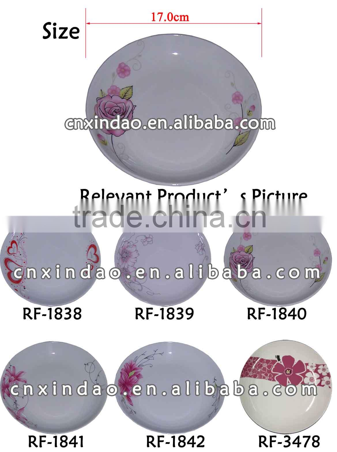 Flower Designed Elegant Popular Porcelain Promotion Plate for Personalized Cake Plate