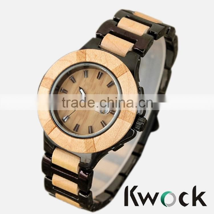 wholesale custom eco-friendly natural low price water resistance wood wrist watch