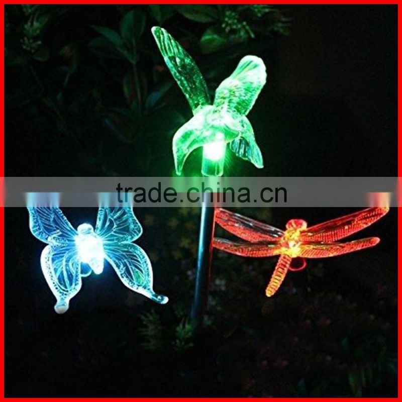 Solar Powered Hummingbird Landscape Garden Stake Color Changing LED Light