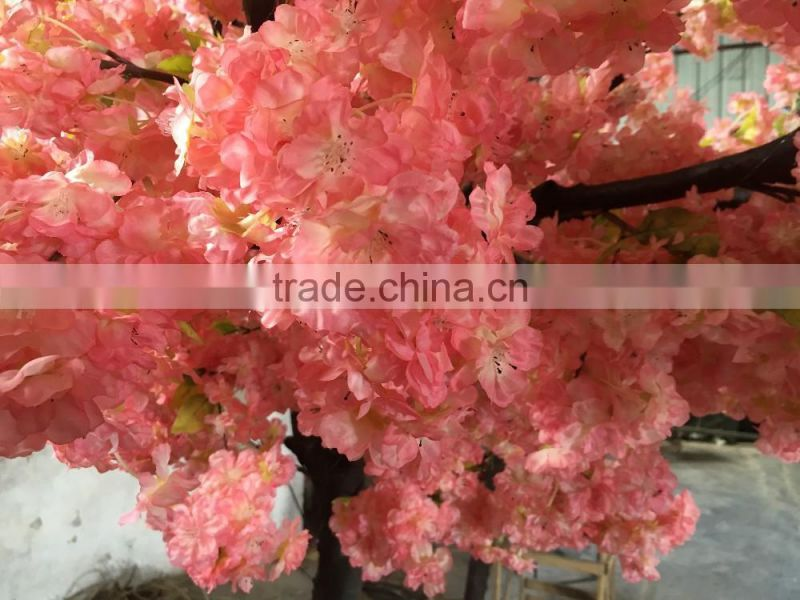 Decorative arch artificial tree fake pink cherry blossom flower arch