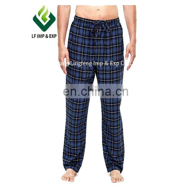 Mens 100% Cotton Yarn Dyed Flannel Lounge Pants