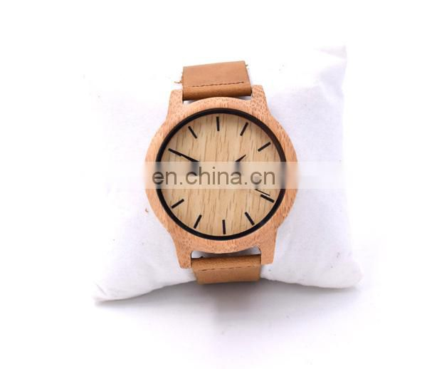 Hot sale alibaba genuine leather wrist watch mens watch wood watch
