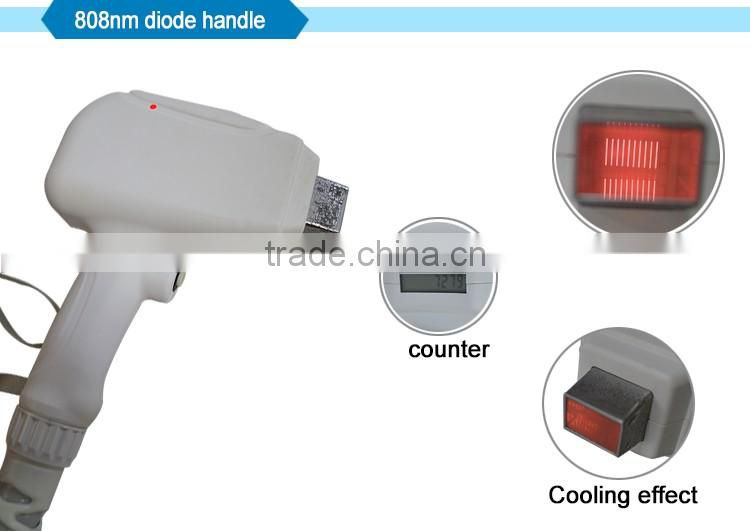 TEC condenser ( double) 808nm diode laser hair removal machine with elight handpiece