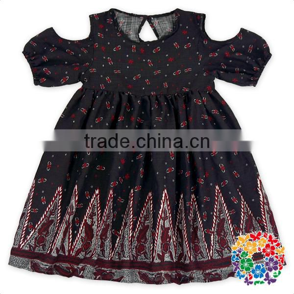 Children Girls Maxi Print White Dress Outfits Fairy Tales Angel Girl Smocked Dress