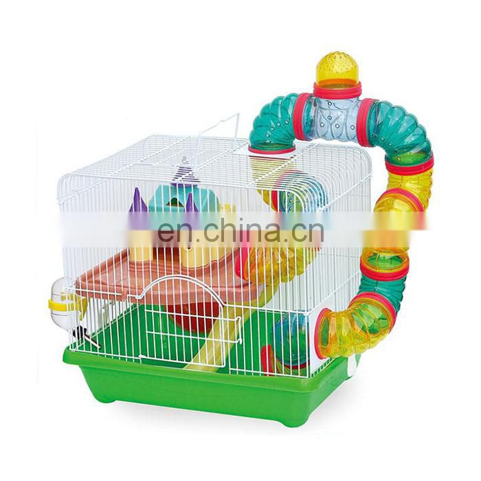 High quality hamster cage with pipeline animals transparent clear view house acrylic pet cage