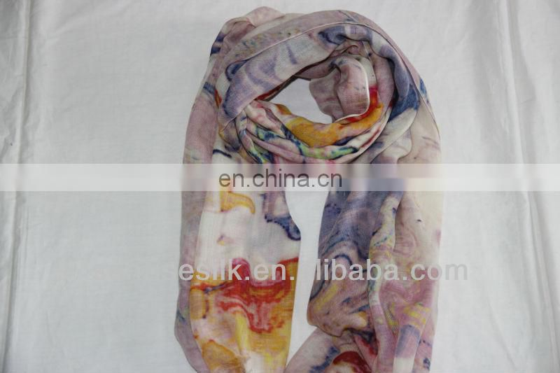 100% printed cashmere winter scarf