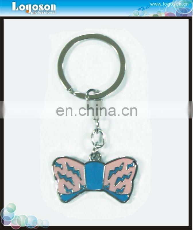 Beautiful custom logo personalized butterfly keychain for wholesale