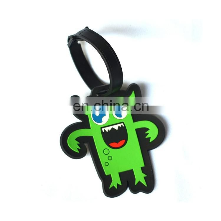 Custom embroidered pvc airport travel name luggage tag in cheap price