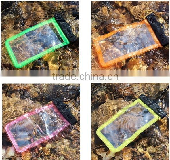 Swimming drifting diving touch screen pvc waterproof pouch