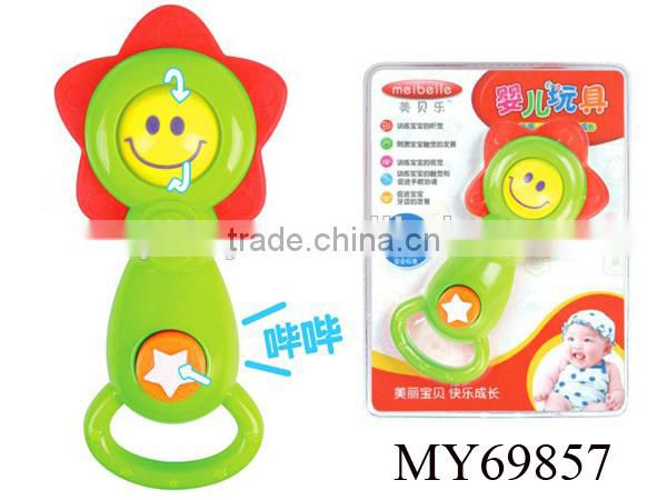 B/O funny plastic baby musical phone toys cartoon Beetle kids smart dialogue phone toys