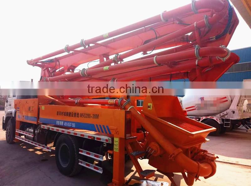 China concrete dump truckwith pto gear pump