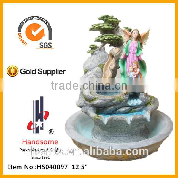 10 Inch New Design Holy Family Resin small decorative indoor water fountain