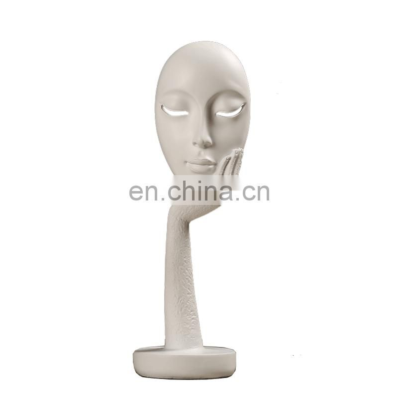 resin girl face mask for decoration