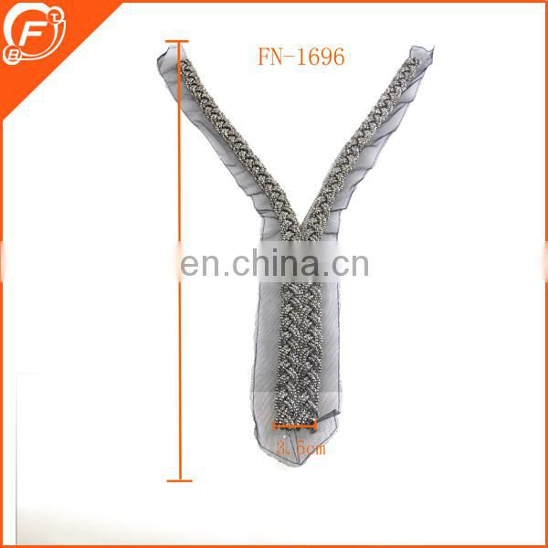fashion detachable lace collars with cylinder glass beads