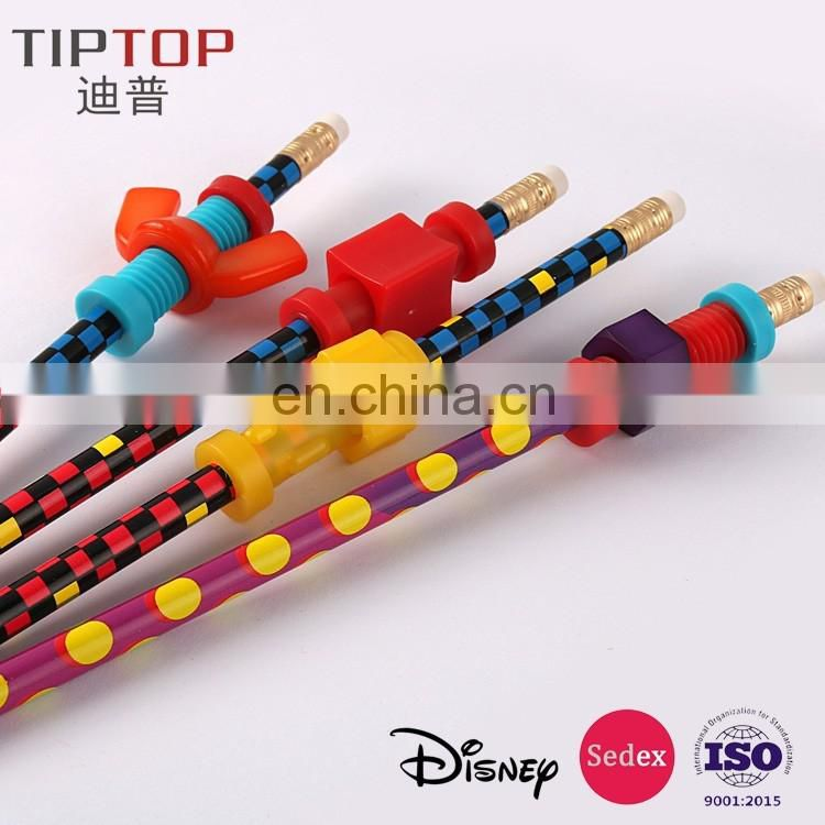 fidget pencil/wing nuts N bolts pencil topper fidgets set/finger fidget toy
